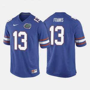 For Men Gators #13 Feleipe Franks Royal Blue College Football Jersey 249972-131