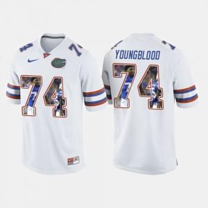 Men Florida Gators #74 Jack Youngblood White College Football Jersey 404328-812