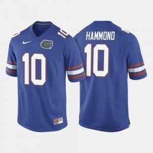 For Men's Florida Gators #10 Josh Hammond Royal Blue College Football Jersey 581663-729