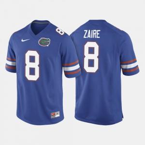 For Men Florida Gators #8 Malik Zaire Royal Blue College Football Jersey 272777-773