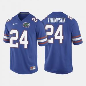 Men University of Florida #24 Mark Thompson Royal Blue College Football Jersey 765539-441