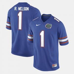Mens Florida #1 Reggie Nelson Royal Blue Alumni Football Game Jersey 744609-840