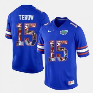 Mens Florida Gator #15 Tim Tebow Royal Blue College Football Jersey 988173-967