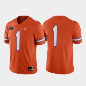 Mens Florida Gator #1 Orange Game Alternate Jersey 488368-200