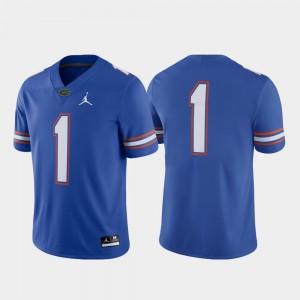 For Men Florida #1 Royal Game Football Jersey 263625-147
