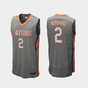 Mens UF #2 Andrew Nembhard Gray Replica College Basketball Jersey 474960-776