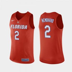 For Men's Florida #2 Andrew Nembhard Orange Replica College Basketball Jersey 266815-589
