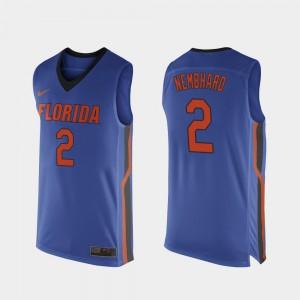 Men's Florida Gators #2 Andrew Nembhard Royal Blue Replica College Basketball Jersey 588698-576