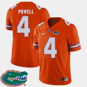 Men's UF #4 Brandon Powell Orange College Football 2018 SEC Jersey 447034-670