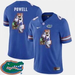 Men Gators #4 Brandon Powell Royal Pictorial Fashion Football Jersey 574967-926