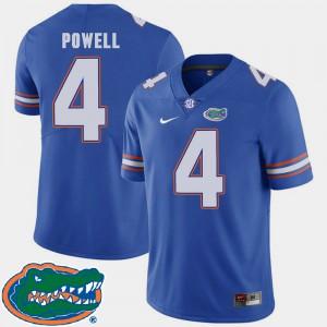 For Men Gator #4 Brandon Powell Royal College Football 2018 SEC Jersey 158602-776