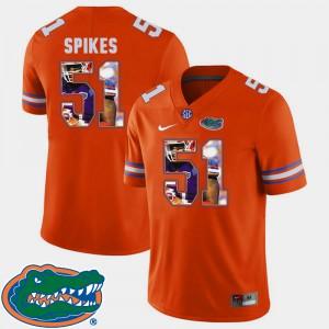 For Men UF #51 Brandon Spikes Orange Pictorial Fashion Football Jersey 607506-310