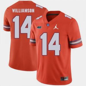 Men Florida Gator #14 Chris Williamson Orange Jordan Brand Replica 2018 Game Jersey 400425-409