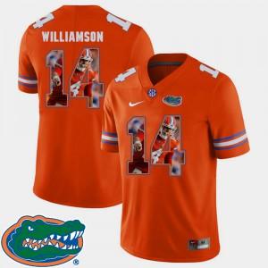 For Men's Florida Gator #14 Chris Williamson Orange Pictorial Fashion Football Jersey 958540-705