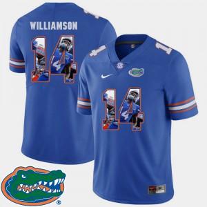 Mens Gator #14 Chris Williamson Royal Pictorial Fashion Football Jersey 763019-333