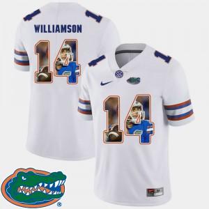 For Men Florida Gators #14 Chris Williamson White Pictorial Fashion Football Jersey 799346-904
