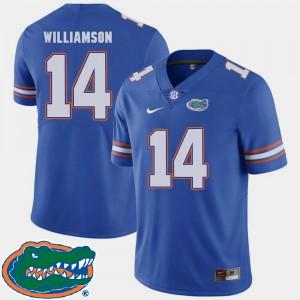 For Men Florida #14 Chris Williamson Royal College Football 2018 SEC Jersey 629771-408
