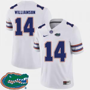 For Men's Gators #14 Chris Williamson White College Football 2018 SEC Jersey 165433-448