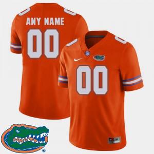For Men Gators #00 Orange College Football 2018 SEC Custom Jerseys 525937-379