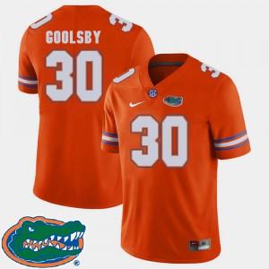 Mens Florida #30 DeAndre Goolsby Orange College Football 2018 SEC Jersey 232768-301