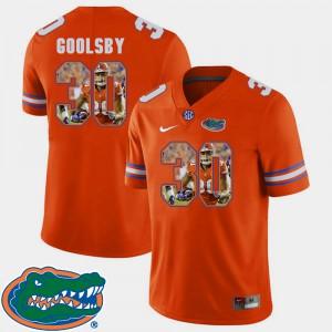 Men Florida #30 DeAndre Goolsby Orange Pictorial Fashion Football Jersey 929816-136