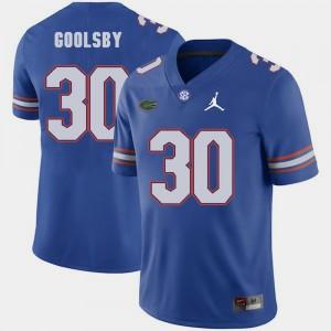 For Men University of Florida #30 DeAndre Goolsby Royal Jordan Brand Replica 2018 Game Jersey 533933-578