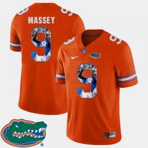 Men's UF #9 Dre Massey Orange Pictorial Fashion Football Jersey 405754-206