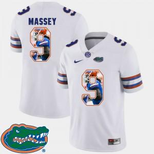 For Men Florida Gator #9 Dre Massey White Pictorial Fashion Football Jersey 356305-269