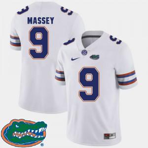 Men Florida #9 Dre Massey White College Football 2018 SEC Jersey 586805-573