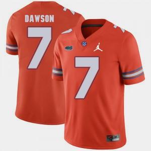 Mens University of Florida #7 Duke Dawson Orange Jordan Brand Replica 2018 Game Jersey 483611-366
