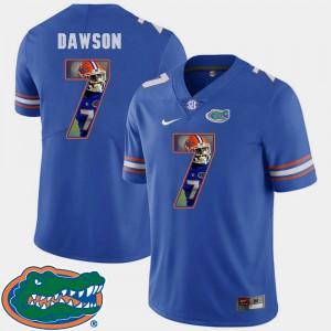 Men's Florida #7 Duke Dawson Royal Pictorial Fashion Football Jersey 423970-209