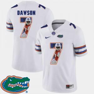 Men Florida Gator #7 Duke Dawson White Pictorial Fashion Football Jersey 693095-387