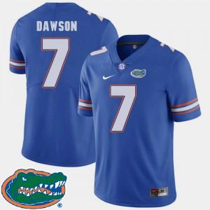 Men's Florida #7 Duke Dawson Royal College Football 2018 SEC Jersey 659094-653