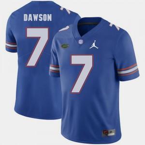 Mens UF #7 Duke Dawson Royal Jordan Brand Replica 2018 Game Jersey 178141-784