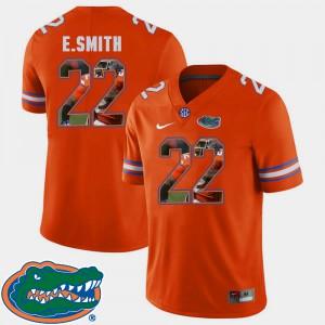 For Men's Gators #22 E.Smith Orange Pictorial Fashion Football Jersey 871126-982