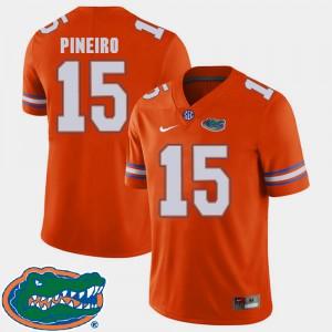 Men Florida #15 Eddy Pineiro Orange College Football 2018 SEC Jersey 823655-641