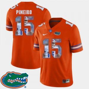 Mens Florida #15 Eddy Pineiro Orange Pictorial Fashion Football Jersey 344407-155
