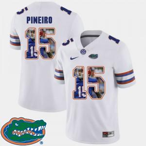 For Men's Florida #15 Eddy Pineiro White Pictorial Fashion Football Jersey 200120-716