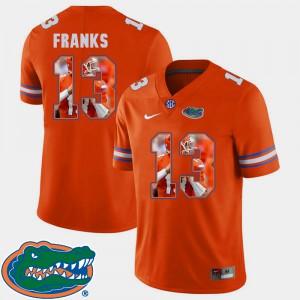Men Gator #13 Feleipe Franks Orange Pictorial Fashion Football Jersey 715363-458