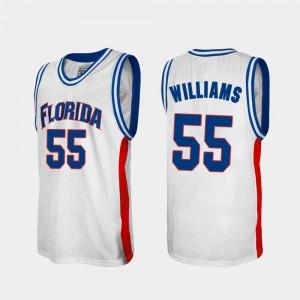 Men University of Florida #55 Jason Williams White Alumni College Basketball Jersey 176955-913
