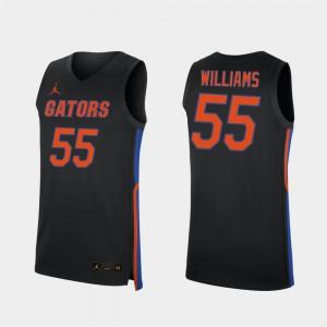 For Men Florida Gator #55 Jason Williams Black Replica 2019-20 College Basketball Jersey 151086-227