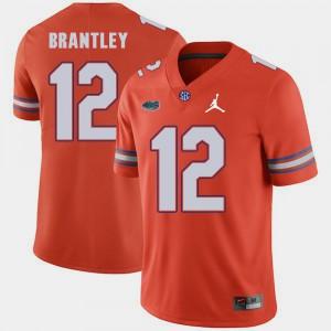 For Men University of Florida #12 John Brantley Orange Jordan Brand Replica 2018 Game Jersey 456600-776