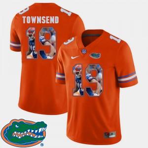 Men's Florida #19 Johnny Townsend Orange Pictorial Fashion Football Jersey 563876-652