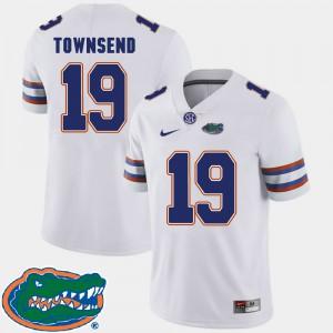 Mens Florida Gators #19 Johnny Townsend White College Football 2018 SEC Jersey 779636-247