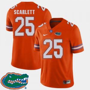For Men Florida #25 Jordan Scarlett Orange College Football 2018 SEC Jersey 784782-660