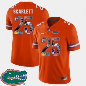 Men Florida #25 Jordan Scarlett Orange Pictorial Fashion Football Jersey 207243-649