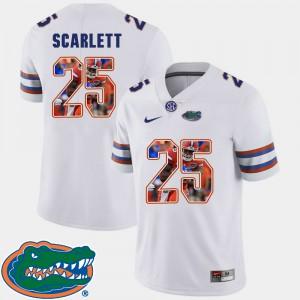 For Men Florida Gators #25 Jordan Scarlett White Pictorial Fashion Football Jersey 883668-719