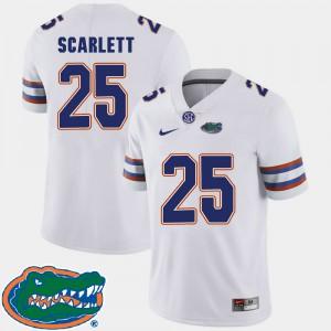 Men's Florida #25 Jordan Scarlett White College Football 2018 SEC Jersey 433847-317