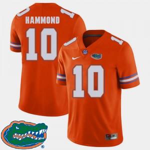 Men's Florida #10 Josh Hammond Orange College Football 2018 SEC Jersey 601769-717