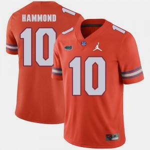 For Men's Florida Gator #10 Josh Hammond Orange Jordan Brand Replica 2018 Game Jersey 226990-465